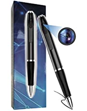 Hidden pen camera with spy protection cover HD 1080P built-in 32GB pen camera. The 2020 new technology pen camera has a recording time of up to 150 to 175 minutes, can be cyclically recorded, video and audio are synchronized, has a photo function, and is equipped with 5 refills.