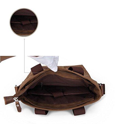 Generic - Bolso al hombro para hombre café 28CM × 14CM × 30CM (11 x 5.5 x 11.8 inches) café