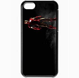Personalized iPhone 5C Cell phone Case/Cover Skin Amazing iron man movies Black