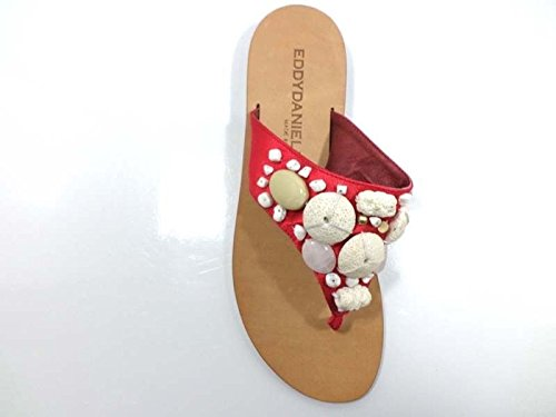 Zapatos Mujer EDDY DANIELE 37 Sandalias Rojo Satén AW374 / AW375
