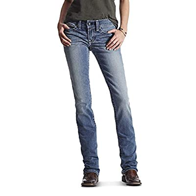 Ariat Women's R.E.A.L. Riding Mid Rise Straight Cut Jean