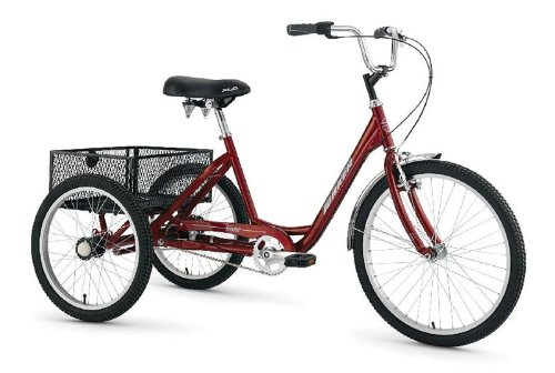 "Torker 24 x 20"" TriStar 2.1 Adult Trike 3 Speed CB Red"