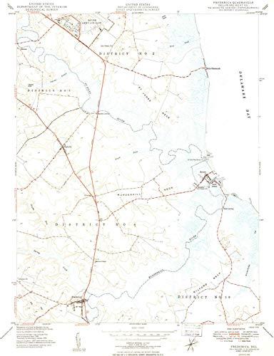 DE topo map, 1:24000 Scale, 7.5 X 7.5 Minute, Historical, 1949, 26.2 x 20.11 in - Paper ()