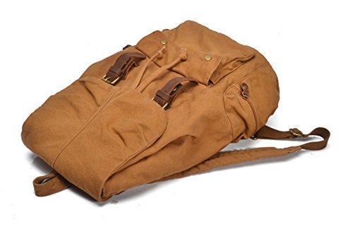 randonnée à sac Kaki camping en à unisexe dos et sac sac dos toile dos sac à cuir Cooler et ordinateur Aq750n