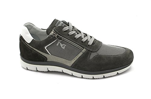 Nero Giardini 00350 Gray Shoes Men Sport Laces Suede Leather Zip Grigio cheap fashionable discount 100% guaranteed buy online outlet buy cheap excellent bkWcrCqay