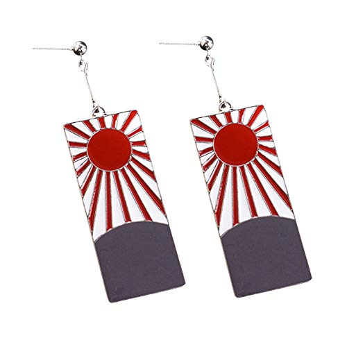 YuDanae Kamado Tanjirou's Earrings Cosplay Accessory Prop - Demon Slayer: Kimetsu no Yaiba (Earrings) -