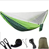 AFFC Camping Hammock with Mosquito Net Outdoor Portable, Lightweight, Breathability Nylon for 2 Person Hiking/Camping/Travel,3