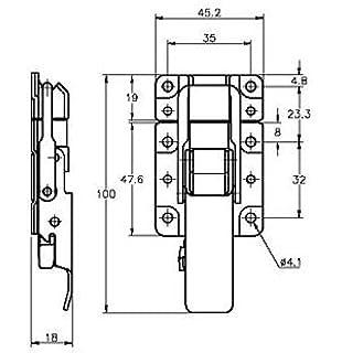 Zinc Protex CatchBolt Flat Panel Body Latches 89-1069MSZN