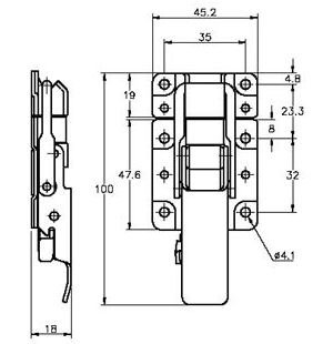 Stainless Steel Protex CatchBolt Flat Panel Body Latches