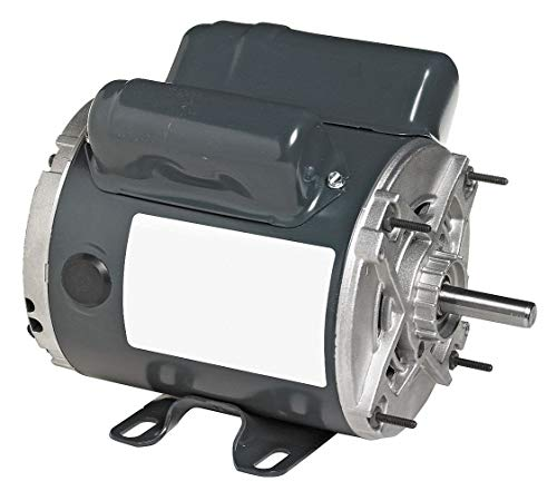 Marathon CG384 56 Frame Open Drip Proof 5KC35JNA489Y Instant Reversing Motor, 1/3 hp, 1800 RPM, 115 VAC, 1 Phase, 1 Speed, Ball Bearing, Rigid Base, Capacitor Start
