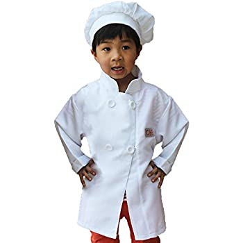 gradplaza children unisex chef costume dress up set white clothing. Black Bedroom Furniture Sets. Home Design Ideas
