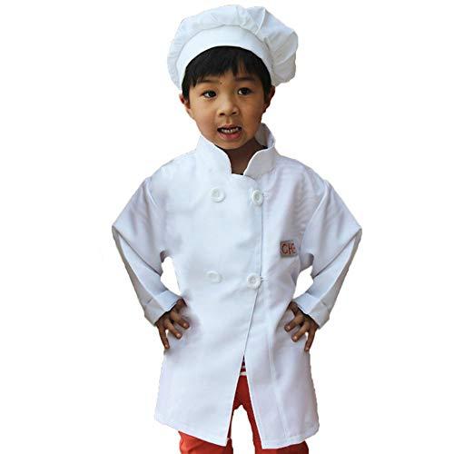 GradPlaza Children Unisex Chef Costume Dress up Set White]()