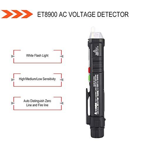 ET8900 AC Voltage Detector Non-Contact Tester Pen Volt Meter Sensor Electric Test Pencil 12V to 1000V Sensitivity Adjustment
