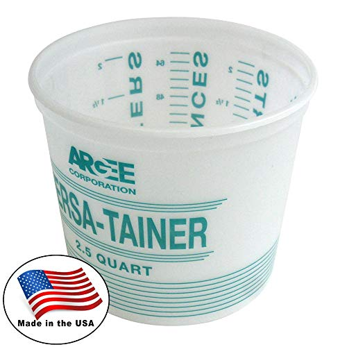 Argee 2.5 Quart, Versa-Tainer Plastic Bucket, White/Teal, 12-Pack RG518/12]()