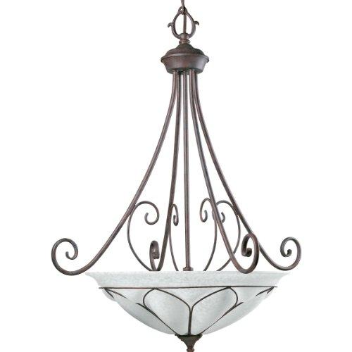 (Progress Lighting P3648-33 3-Light Verona Foyer Fixture, Cobblestone)