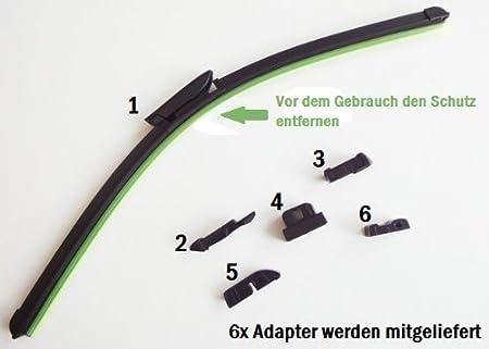2mm Service Für Vito Viano W639 Ab 09 2005 Set Scheibenwischer 65cm 70cm Mit Adapter Auto