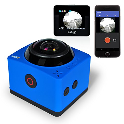 Gear Pro HYPE 360 Cam - 360° Degree Panorama 1080p HD Camera, Blue
