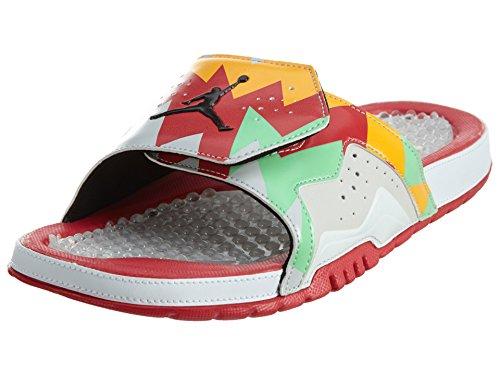 Nike Jordan Men's Jordan Hydron VII Retro White/Black/True Red/Nght Slvr Sandal 9 Men US