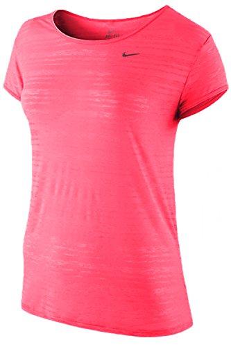Nike Sheer T-shirt - Nike Women's Touch Breeze Sheer Crew Neck Shirt Pink (Small)