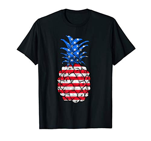 Pineapple American Flag 4Th Of July Shirt Fourth Of July Tee -