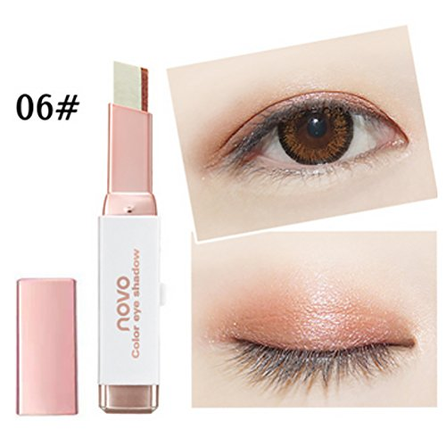 Silvercell Eye Shadow Stick Waterproof Double Colors Gradient Shimmer Eyeshadow - Two Eyes Tone
