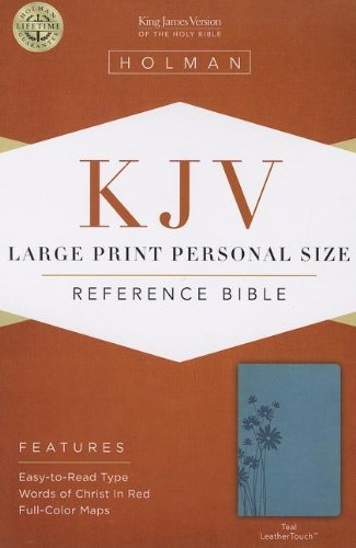 Download KJV Large Print Personal Size Reference Bible, Teal LeatherTouch pdf epub