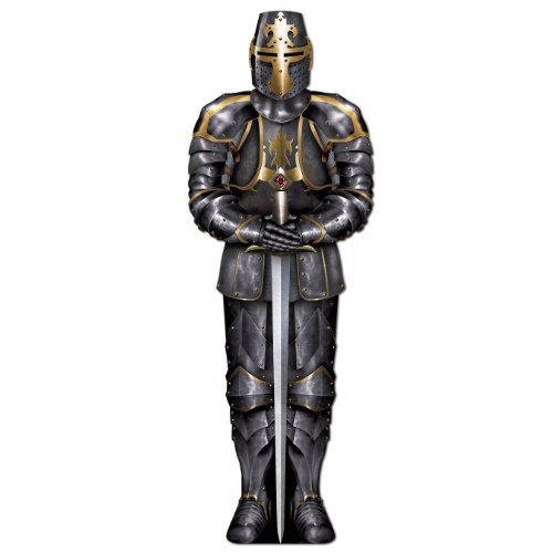 Beistle 54527 Jointed Black Knight, 6-Feet (Medieval Party Decorations)
