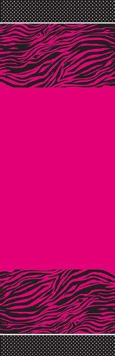 Creative Converting Pink Zebra Boutique Plastic Banquet Table - Zebra Boutique