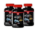 Brain Function and Focus Pills - Wild Alaskan Salmon Oil 2000 - Omega 3 Fish Oil Supplements for Women - 3 Bottles 270 Softgels