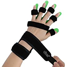 OBER Adults Kids Hand Wrist Orthosis Separate Finger Device Flex Spasm Extension Finger Board Fixer Splint Apoplexy Hemiplegia (M(5.1-6.6 inch), Right Hand)