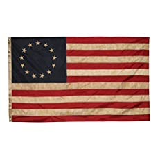 Betsy Ross Vintage Embroidered Flag (Premium Quality Polyester), 3' X 5'