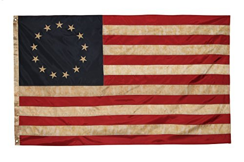 Founding Fathers Flags Betsy Ross Vintage Embroidered Flag -