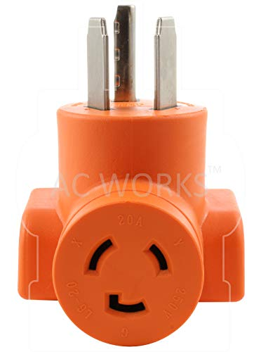 AC WORKS [AD1030L620] 3-Prong Dryer Oulet to L6-20 20Amp 250Volt Locking Female Adapter by AC WORKS (Image #3)