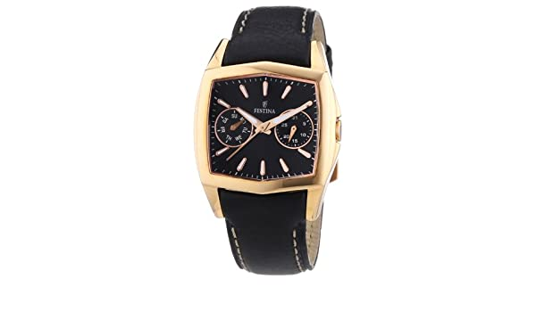 Amazon.com: Festina F16264/I - Womens Wristwatch, Leather, color: Black: Watches