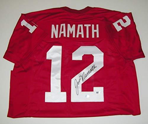 Joe Namath Autographed Signed Memorabilia Ua Alabama Crimson Tide Jersey - Beckett Authentic