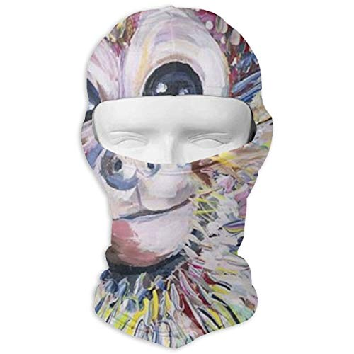 (O-X_X-O Men/Women Breathable Motorcycle Colorful Animal Monkey Full Face Mask Windproof Dust UV Protection Balaclava for Hiking Cycling Skiing Fishing and Outdoor Sports )