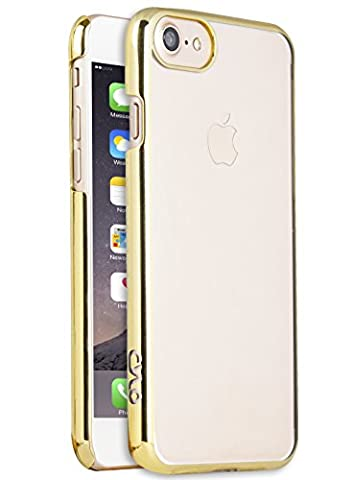 CYLO Tracer Sheer iPhone 7 Case, Ultra-Thin and Lightweight with Enhanced Sleek Design (Gold) (Fire Phone Screen Protector Moshi)