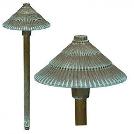 LED Round Pagoda 1 Light Path Light Finish: Verdigris by Bronze (Path Verdigris)
