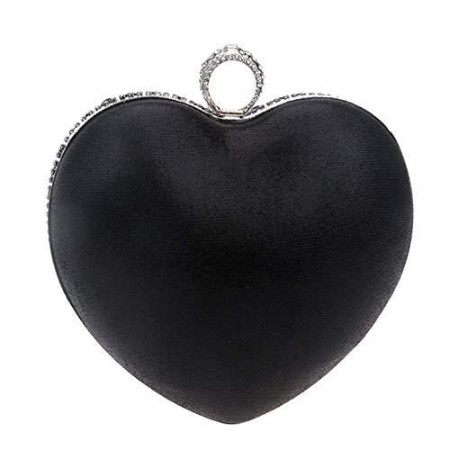 Rhinestone Delle Di Del Frizione Partito Borsa Donne Sera Nero colore Sacchetto Diamante Borse Isogea Mano Promenade Nero Cristallo q0PxB0w