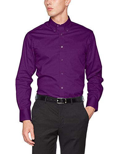 Kustom Kit Herren Business-Hemd Tailored Fit Premium Oxford Kk188 Purple (Dark Purple), 36