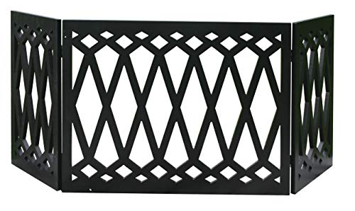 "Zoogamo 3 Panel Diamond Pattern Design Pet Gate-19 Inches Tall and Expands Up to 48"" Wide Durable Lightweight Extra…"