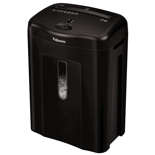 Fellowes Powershred 11C Cross, Cut Shredder, 11 Sheet Capacity, Black (4350001) by Fellowes
