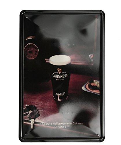 SuperStudio Lo + demoda hcn355–87Printed Metal Table, Vintage Halloween Guinness, 20x 30cm, Multi-Coloured -