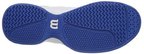 Wilson RUSH SWING WHITE/NEW BLUE W/WHITE - Zapatillas De Tenis de material sintético hombre multicolor - Mehrfarbig (White/New Blue W/White)
