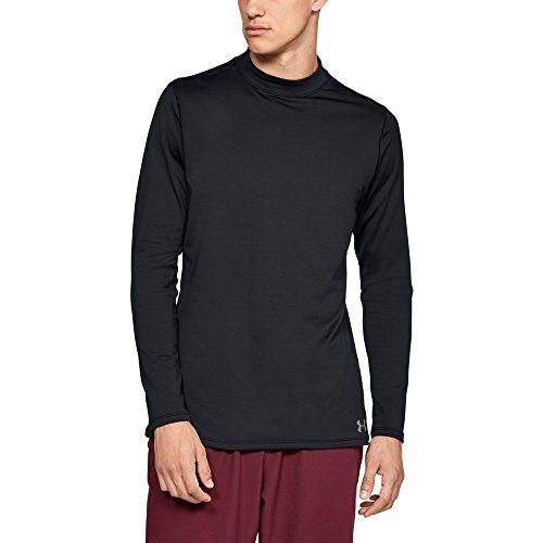 (Under Armour Men's ColdGear Armour Compression Mock Long Sleeve Shirt, Black (001)/Steel, Large)