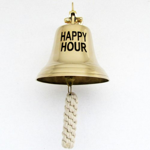Large Bell Tip - Large Solid Brass Happy Hour Bar Bell