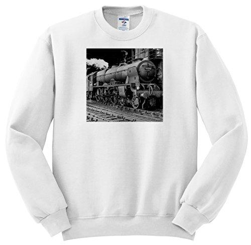 (Scenes from the Past Magic Lantern Slide - Magic Lantern Vintage LMS Royal Scot Steam Locomotive Train Station - Sweatshirts - Adult SweatShirt Large (ss_240525_3))