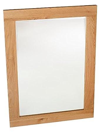 Waverly Oak - Oak Framed Mirror (WM930): Amazon.co.uk: Kitchen & Home