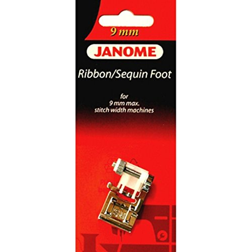 Ribbon / Sequin Foot #202090009 For Janome 9MM Max Stitch Width Sewing (Sequins Ribbon Foot)