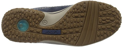 Gabor Comfort, 06.385.46 Sneaker Da Donna In Pelle Blu (nubuck Blu Scuro)
